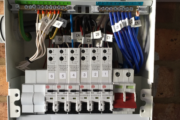 Inside Of Newly Installed Consumer Unit - CLIFF Electrical, Polegate, East Sussex