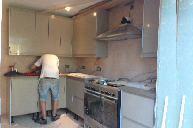 Kitchen Rewire Works In Progress - CLIFF Electrical, Polegate, East Sussex